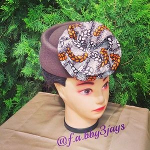 Handmade Ankara hat/ Ankara cap (Ankara craft)